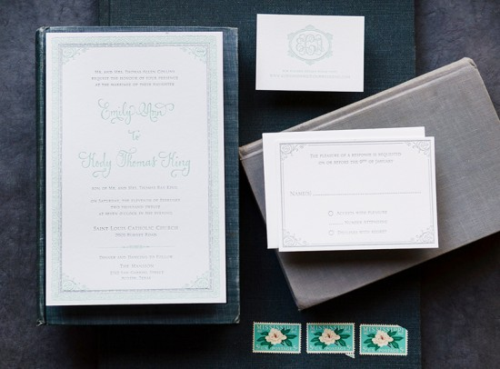 Antiquaria Letterpress Wedding Invitation Collection5 550x406 Antiquaria Letterpress Wedding Invitation Collection