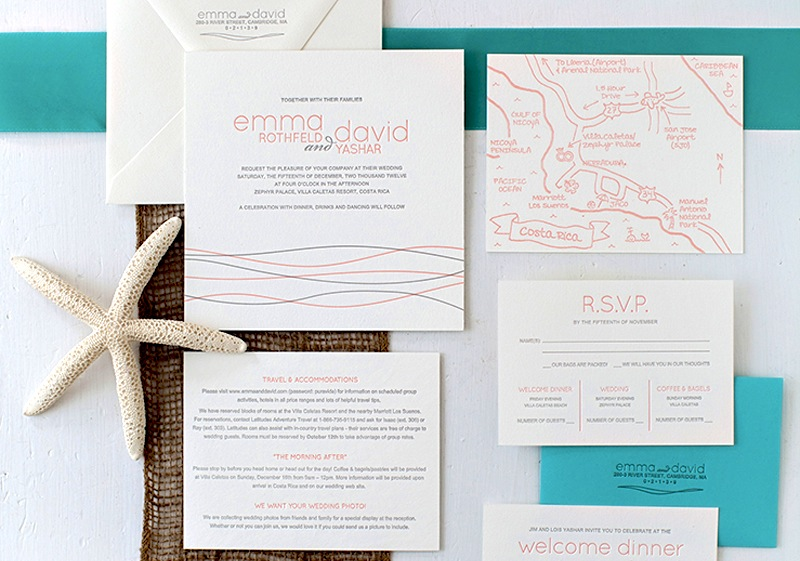 Beach Wedding Invitation Stationery