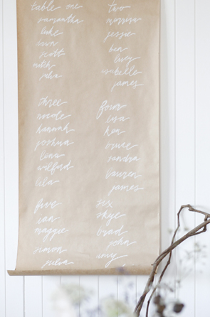 Day-Of Wedding Stationery Inspiration and Ideas: Menu Signs via Oh So Beautiful Paper (6)