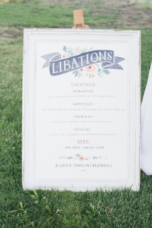 Day-Of Wedding Stationery Inspiration and Ideas: Menu Signs via Oh So Beautiful Paper (4)