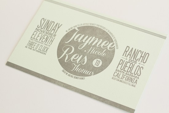 Modern California Wedding Invitations by JayAdores via Oh So Beautiful Paper (7)