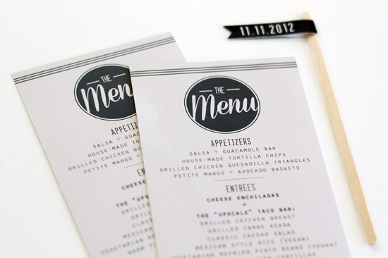 Modern Rehearsal Dinner Invitations and Wedding Stationery by JayAdores Design Co. via Oh So Beautiful Paper (4)