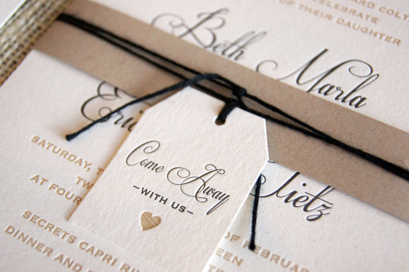 neutral travel themed destination wedding invitations by bc design via oh so beautiful paper - Weddings Invitations