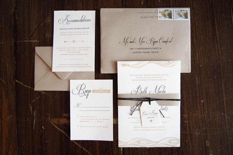 Beth Erics Come Away With Us Destination Wedding Invitations