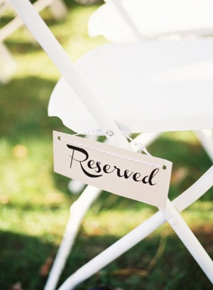 Day-Of Wedding Stationery Inspiration and Ideas: Reserved Signs via Oh So Beautiful Paper (6)