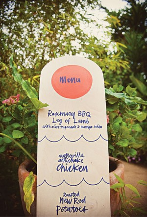 Day-Of Wedding Stationery Inspiration and Ideas: Menu Signs via Oh So Beautiful Paper (9)