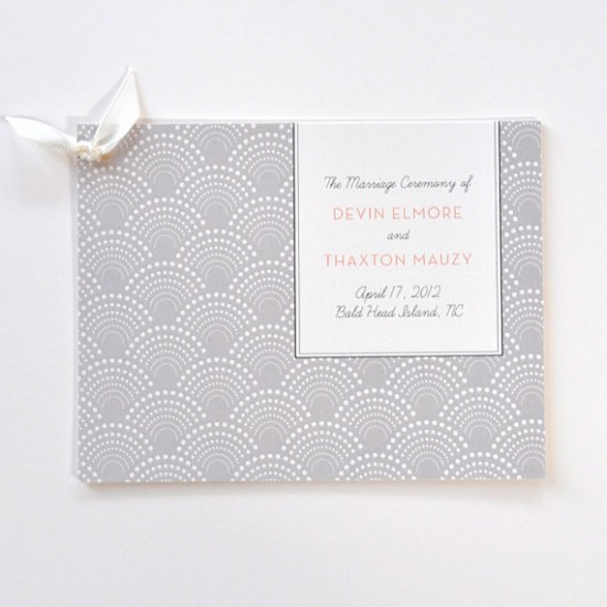 Art Deco Ceremony Program Hello Tenfold 550x550 Wedding Stationery Inspiration: Art Deco