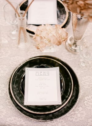 Day-Of Wedding Stationery Inspiration and Ideas: Art Deco via Oh So Beautiful Paper (3)