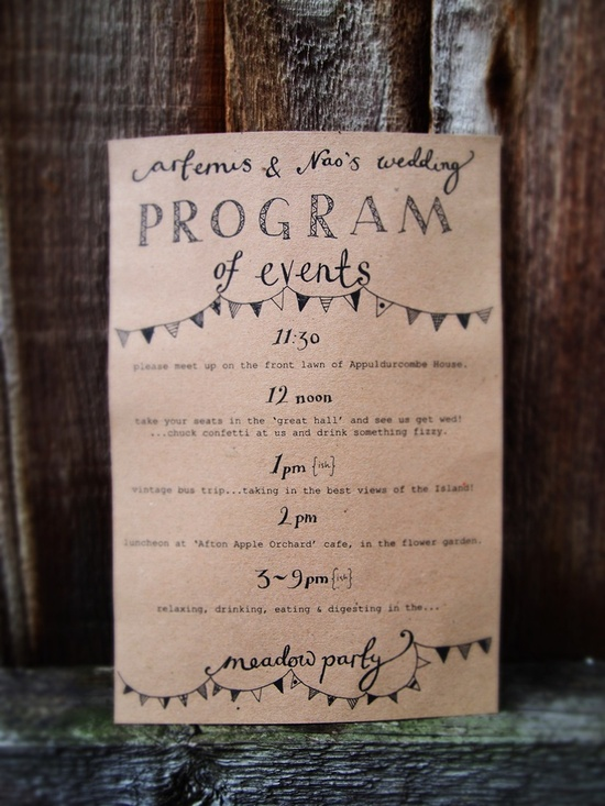 Day-Of Wedding Stationery Inspiration and Ideas: Day-Of Itineraries via Oh So Beautiful Paper (10) (8)