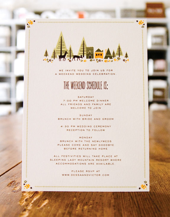 Day Of Wedding Stationery Inspiration And Ideas: Day Of Itineraries Via Oh  So ...