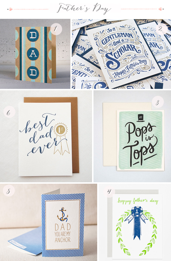 The Best Father's Day Cards via Oh So Beautiful Paper