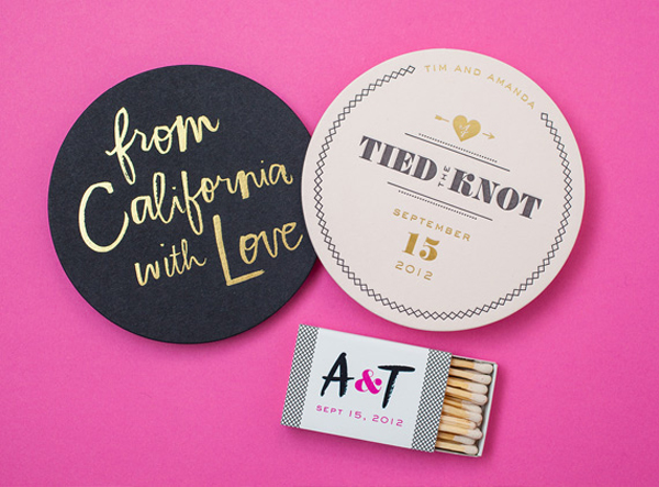 Day-Of Wedding Stationery Inspiration and Ideas: Coasters via Oh So Beautiful Paper (8)