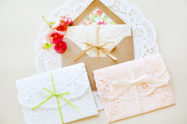Lace Bridal Shower Invitations by Kara Anne Design via Oh So Beautiful Paper (6)