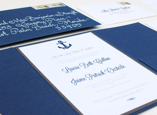 Nautical Wedding Invitations By Chirp Paperie Via Oh So Beautiful Paper 5