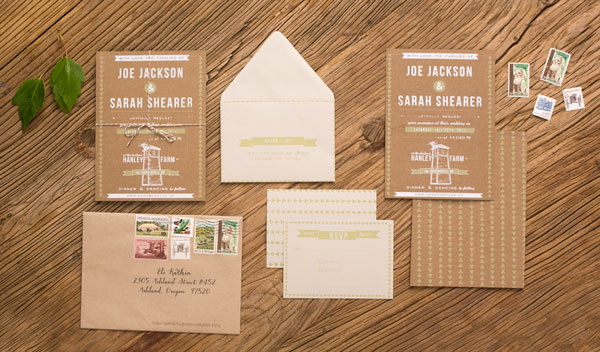 DIY Rustic Screen Printed Barn Wedding Invitations Via Oh So Beautiful Paper 4