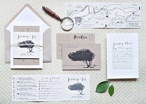 Whimsical Outdoor Wedding Invitations by Suite Paperie via Oh So Beautiful Paper (7)