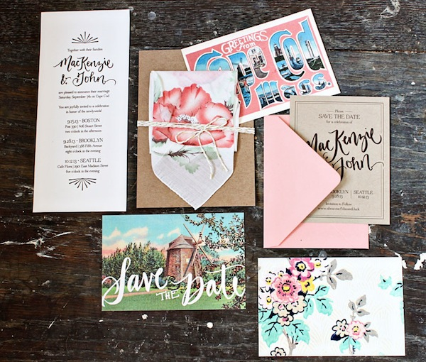 Cape Cod Wedding Invitations by Allie Ruth Design via Oh So Beautiful Paper (5)