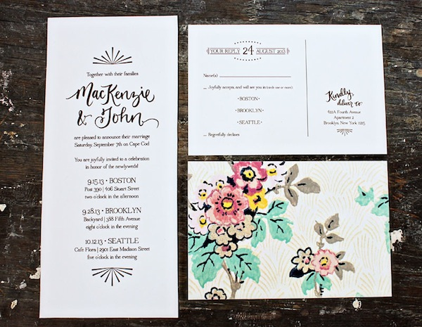 Cape Cod Wedding Invitations by Allie Ruth Design via Oh So Beautiful Paper (4)