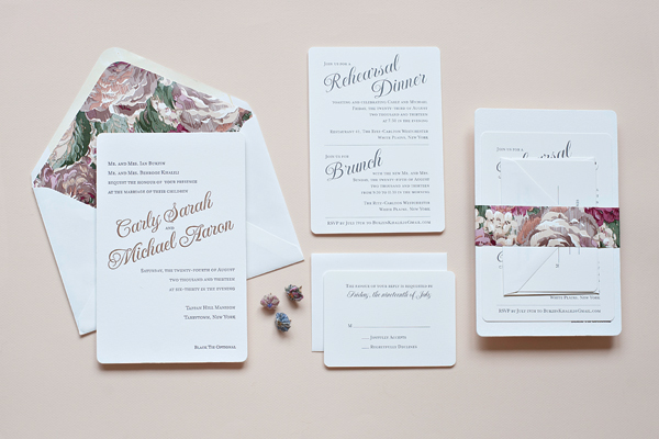 Classic Copper And Gray Wedding Invitations By Suite Paperie Via Oh So  Beautiful Paper (5