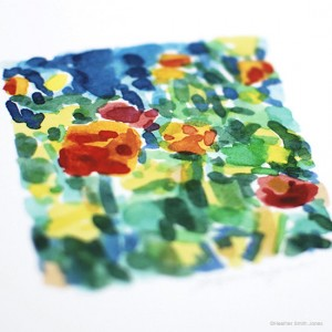 Floral Watercolor Original Artwork by Heather Smith Jones via Oh So Beautiful Paper (1)