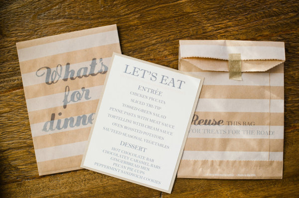 Day-Of Wedding Stationery Inspiration and Ideas: Treat Bags via Oh So Beautiful Paper (9)