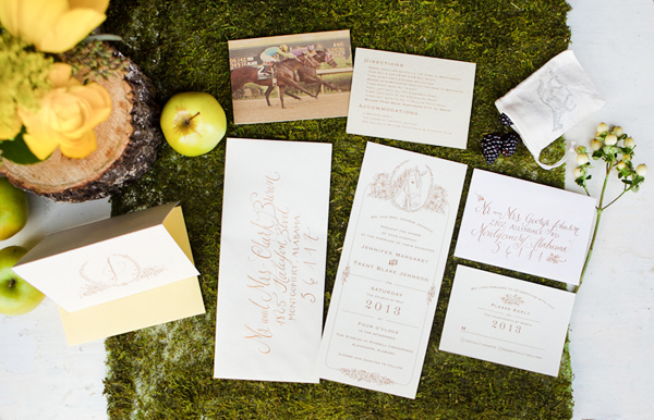 Equestrian Wedding Invitations and Calligraphy by Kara Anne Paper & Lettering (11)