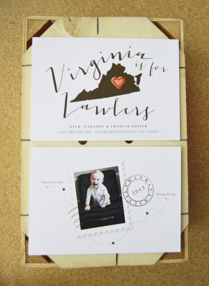 Virginia is for Lawlers Moving Announcements by Snow & Ivy and La Happy via Oh So Beautiful Paper (3)