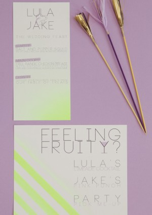 Day-Of Wedding Stationery Inspiration and Ideas: Neon via Oh So Beautiful Paper (14)