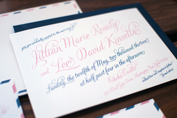 Travel-Inspired Airmail Wedding Invitations by Heritage + Joy via Oh So Beautiful Paper (5)