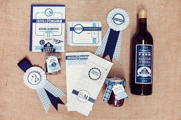 Day-Of Wedding Stationery Inspiration and Ideas: Award Ribbons via Oh So Beautiful Paper (4)
