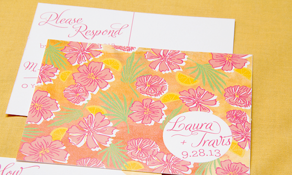 Floral Destination Wedding Invitations by Sparkvites via Oh So Beautiful Paper (1)