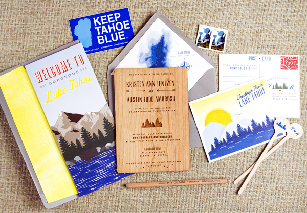 Wood-Lake-Tahoe-Wedding-Invitations-Swiss-Cottage-Designs