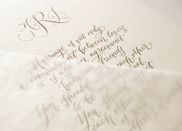 Calligraphy Inspiration: Crystal Kluge via Oh So Beautiful Paper