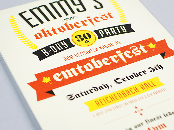 Emmy's Oktoberfest 30th Birthday Party Invitations