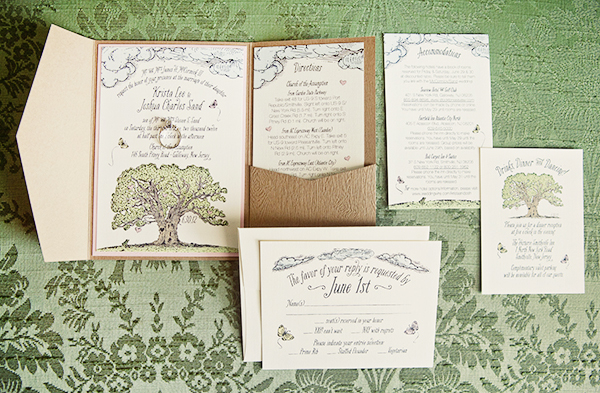 Krista Joshs Whimsical Woodland Wedding Invitations