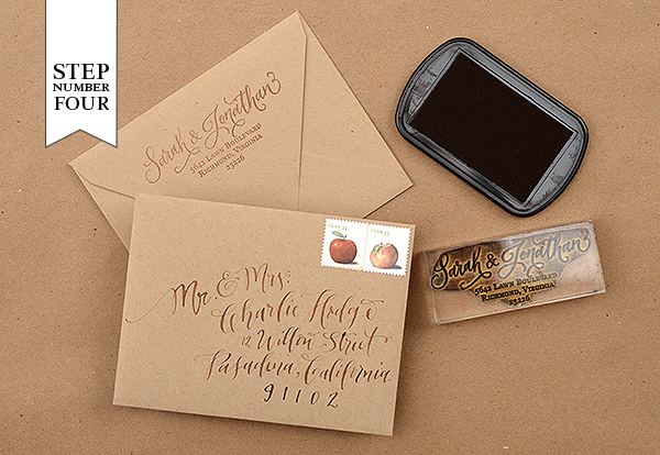 DIY Tutorial: Rubber Stamp Mountain-Inspired Save the Dates