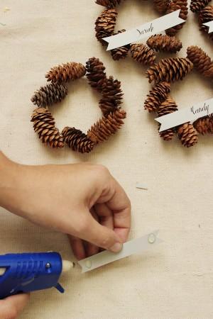DIY Mini Pinecone Wreath Placeholder - Step 4