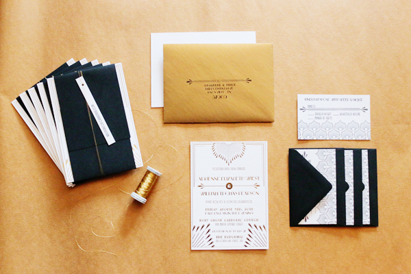 Gold-Foil-Art-Deco-Wedding-Invitations-4th-Year-Studio