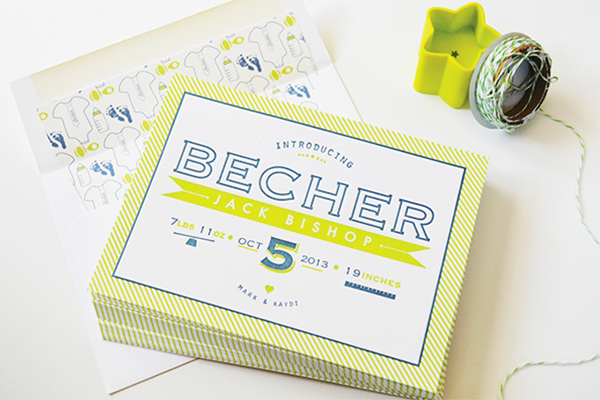 Chartreuse-Letterpress-Birth-Announcement-Maison-Yellow2