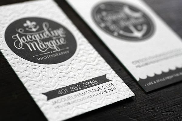 Crescent anchor letterpress business cards gray white edge painted letterpress business cards6 reheart Images