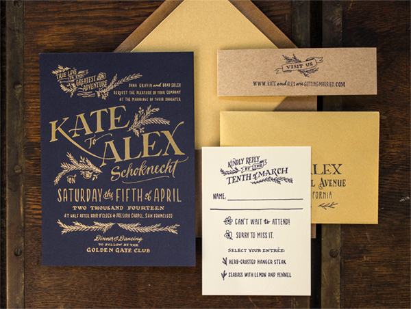 kate + alex's elegant rustic wedding invitations, Wedding invitations
