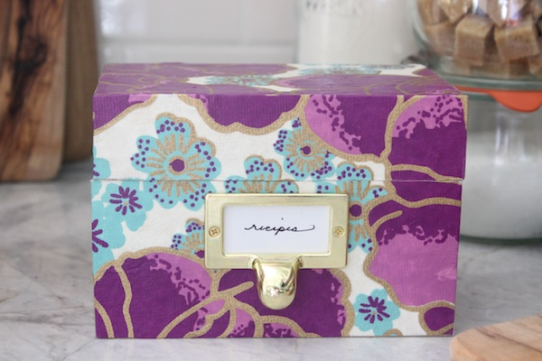 Mother's Day DIY Tutorial: Decoupage Recipe Box via Oh So Beautiful Paper