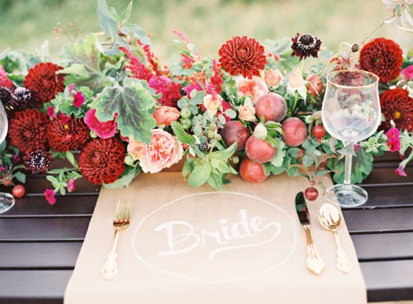 Day-of Wedding Stationery Inspiration: Placemats