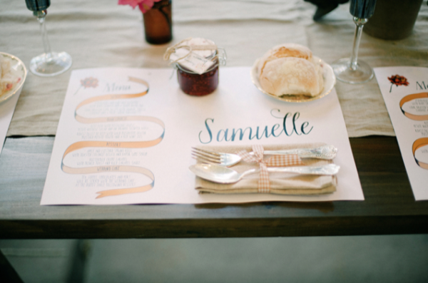 day of wedding stationery inspiration placemats