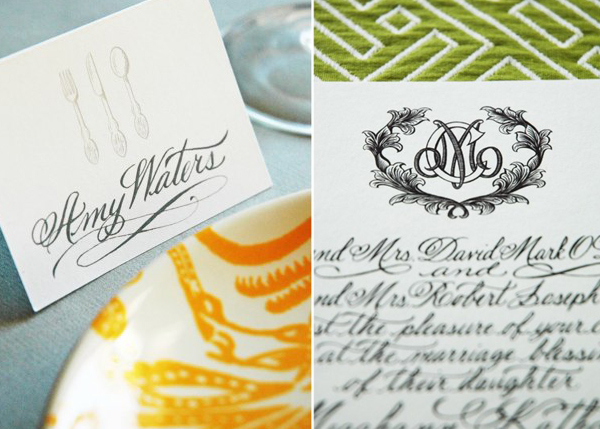 Calligraphy by Allison R. Banks via Oh So Beautiful Paper