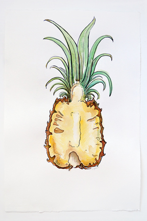 Courtney-Khail-Watercolor-Painting-OSBP-Pineapple