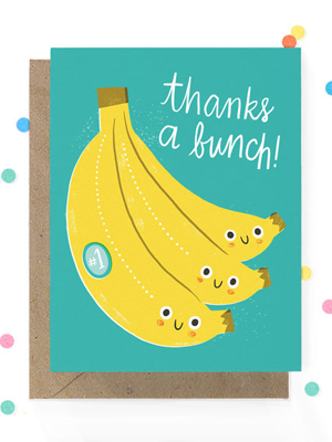 Hooray-Today-Banana-Thanks-Card
