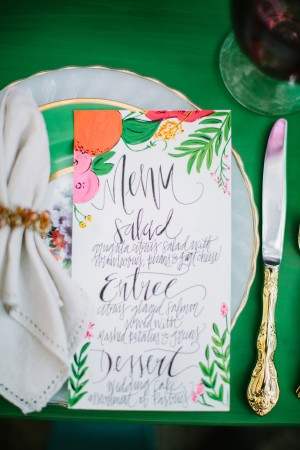 Day-of Wedding Stationery Inspiration: Tropical