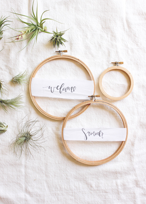 DIY Tutorial: Summer Air Plant Wreath for Weddings and Cocktail Parties via Oh So Beautiful Paper