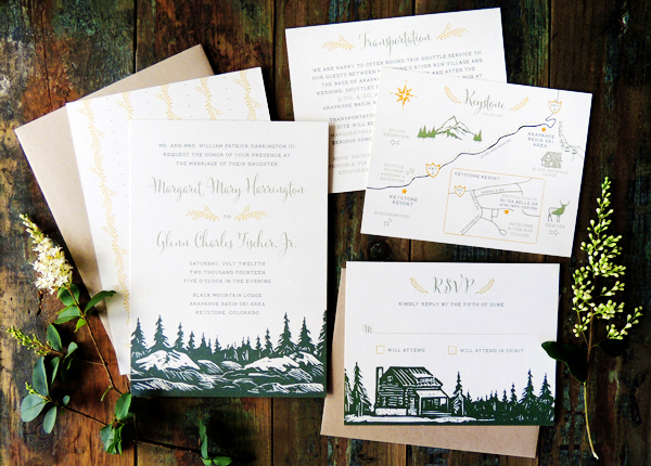 Mountain-Evergreen-Wedding-Invitations-Harken-Press